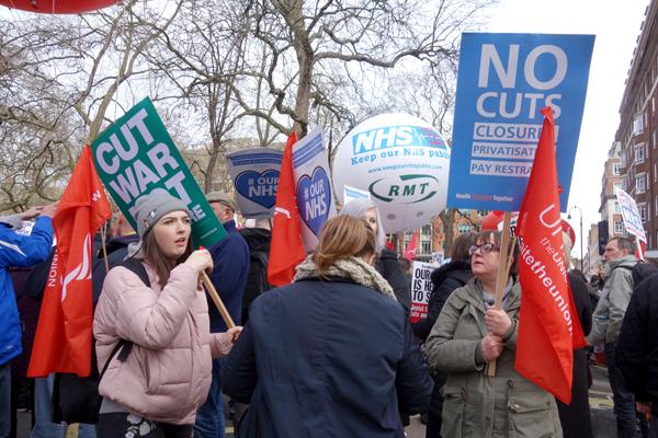 NHS London demonstration 2017.