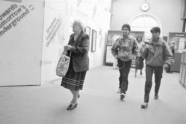 Whitechapel Station. East London 1984.