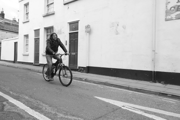 Man on a bike. Sandown Lane. Wavertree 2016.