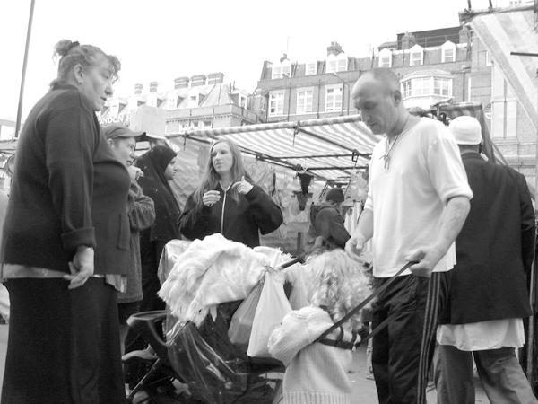 Whitechapel market. 2004.