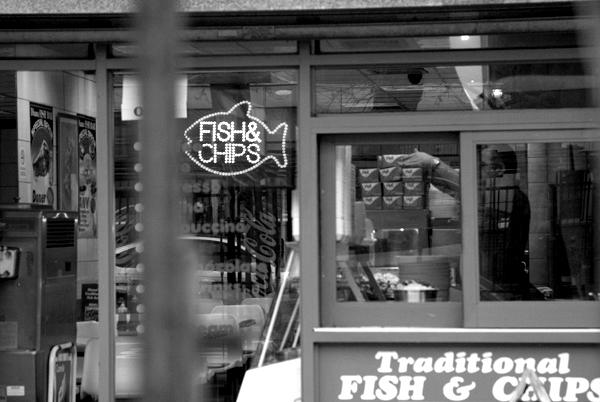 Fish & chips. Whitechapel, East London 2009.