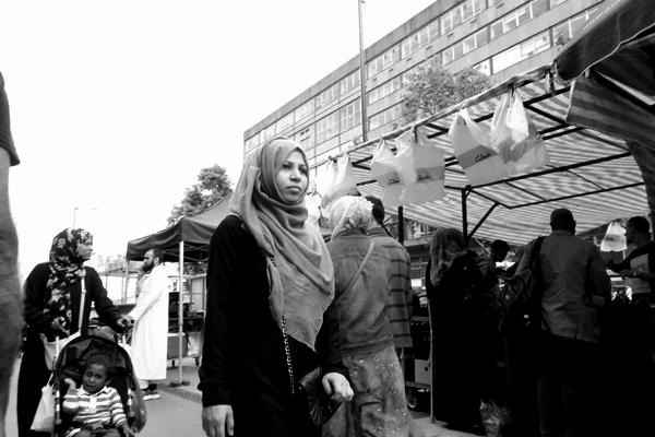 Whitechapel market. East London 2015.