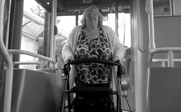 On the bus. Liverpool September 2017.