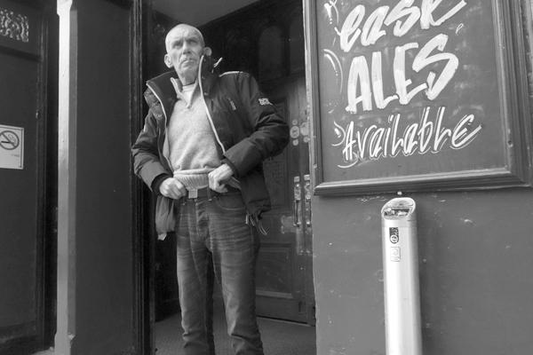 Having a smoke outside a pub. Ranelagh Street. Liverpool September 2017.