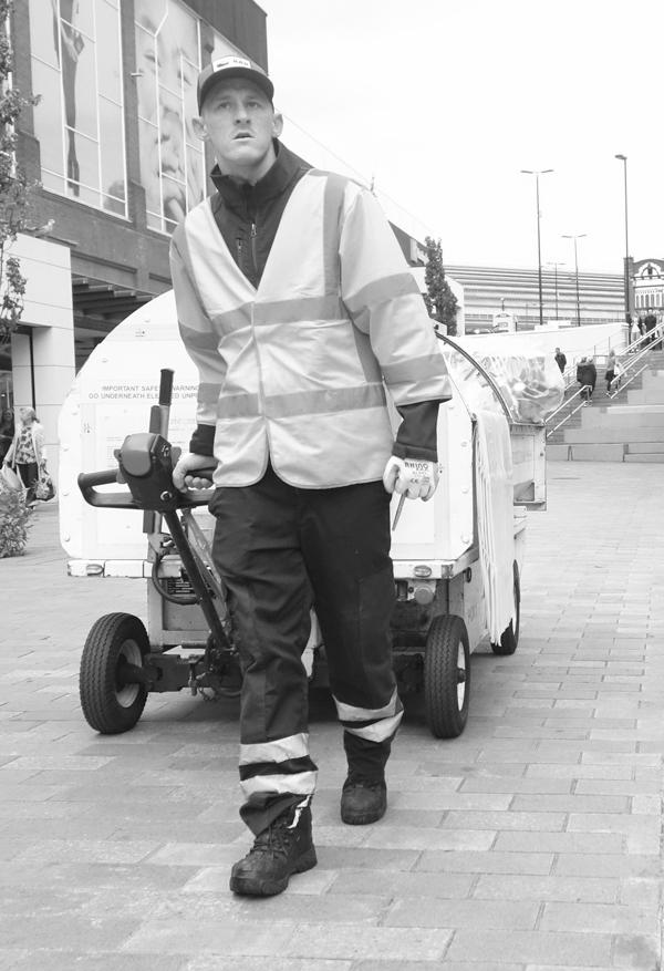 Street cleaner. Liverpool September 2017.