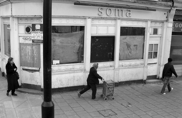 Mile End Road. East London March 2010.