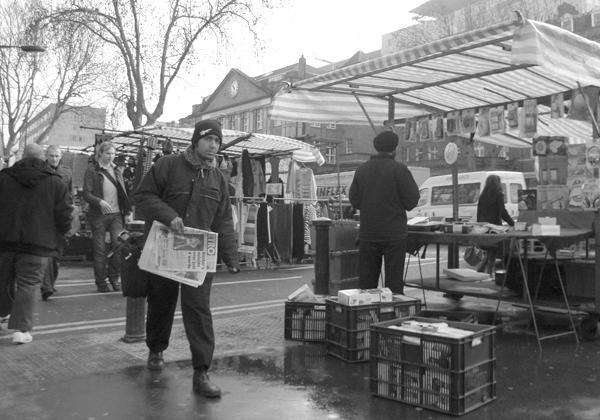 Whitechapel market. East London March 2010.