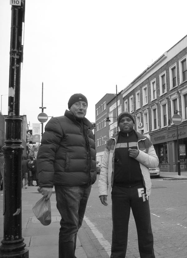 Conversation. Roman Road, East London 2010.