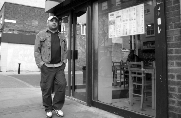 Man with a cap. Roman Road, East London 2010.