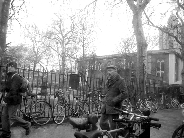 View from a bus. Cambridge Heath Road. East London 2010.