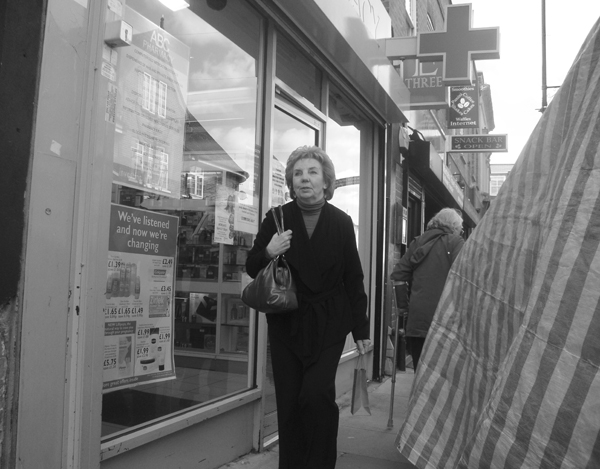 Shops and market. Roman Road. East London 2010.