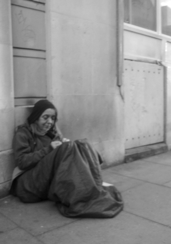 Homeless. Commercial Street. Spitalfields East London 2010.