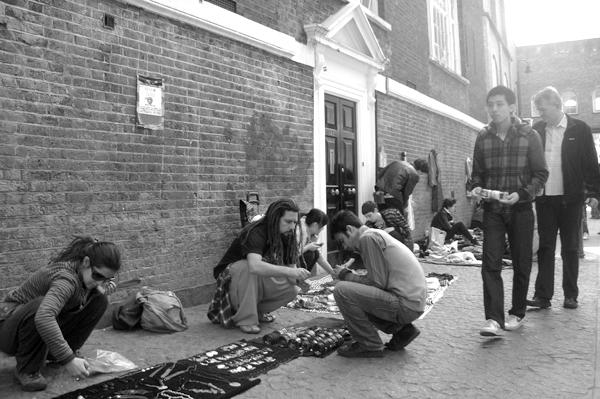 Sunday street market. Brick Lane 2010.