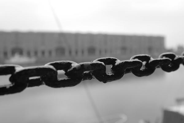 Chains. Albert Dock. Liverpool 2005.