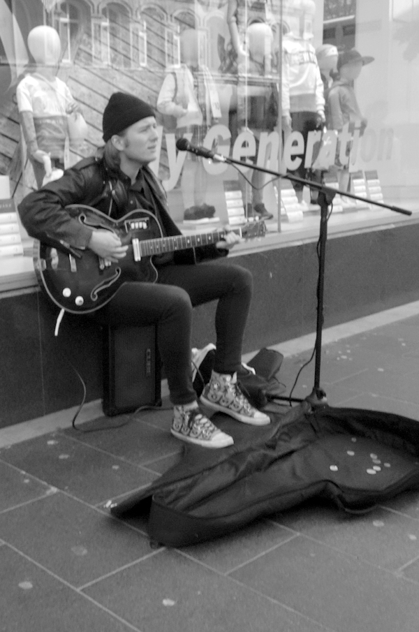Musician. Church Street. Liverpool 2017.