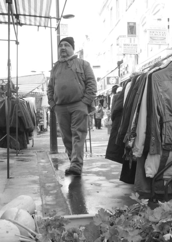 Stall holder, Whitechapel market. East London 2010.