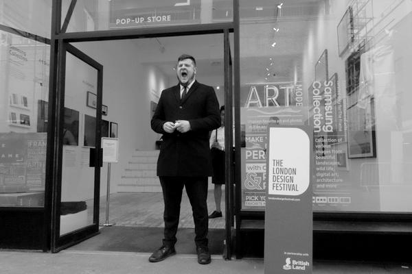 Art gallery in Drays Walk. East London 2017.