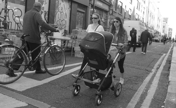 Pushchair on Cheshire Street. East London 2017.
