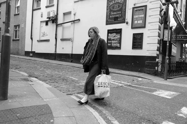 Crossing Wood Street. Liverpool October 2017.