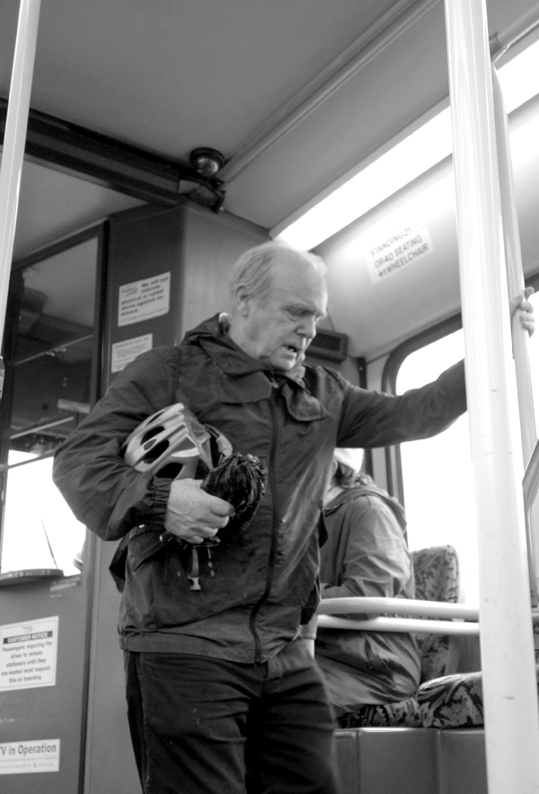 On the bus. Liverpool October 2017.