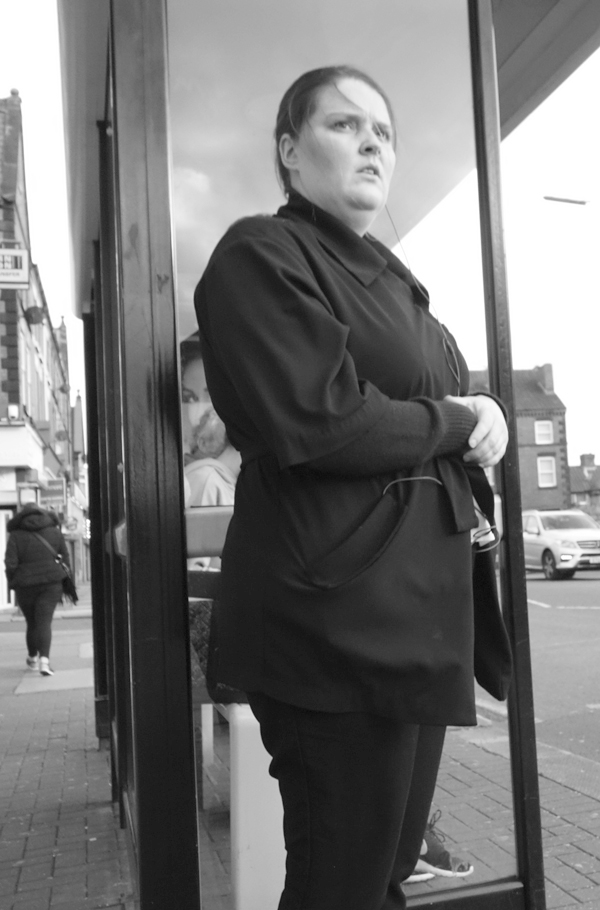Waiting for the bus. Picton Road. Liverpool October 2017.