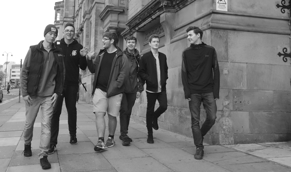 Mates on Lime Street. Liverpool October 2017.