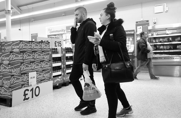 Supermarket in Walton. November Liverpool 2017.