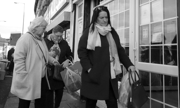 Out shopping in Old Swan. November, Liverpool 2017.