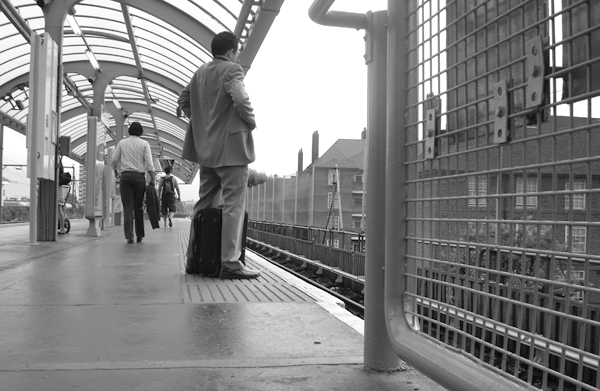 Shadwell station. East London, August 2008.