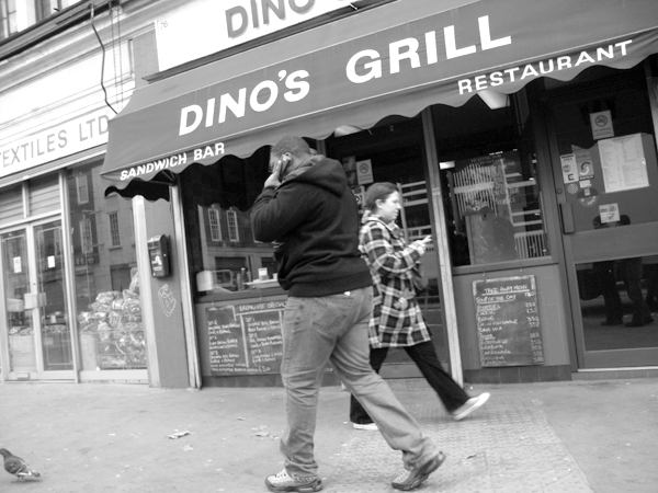 Dino's Grill, Commercial Street. East London 2010.