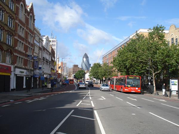 Whitechapel High Street. East London, August 2008.
