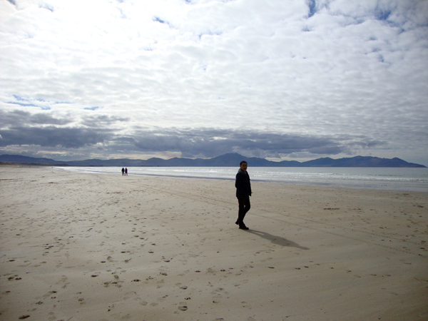 Walking on Banna beach in Kerry. Ireland 2010.