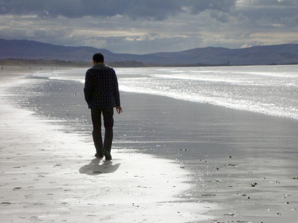 Walking on Banna beach. Ireland 2010.