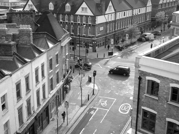 Hanbury Street & Spitalfields market. East London May 2010.