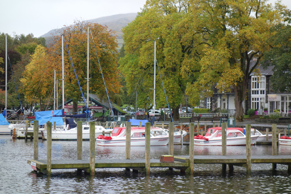 Boats on Lake Windermere. October 2017.