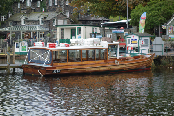 Boat on Lake Windermere. October 2017.
