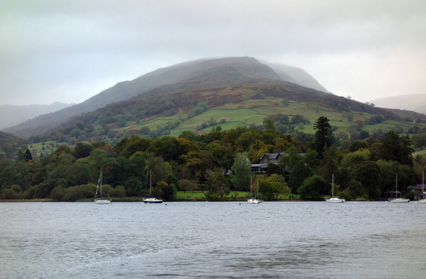 Hills over Lake Windermere. October 2017.