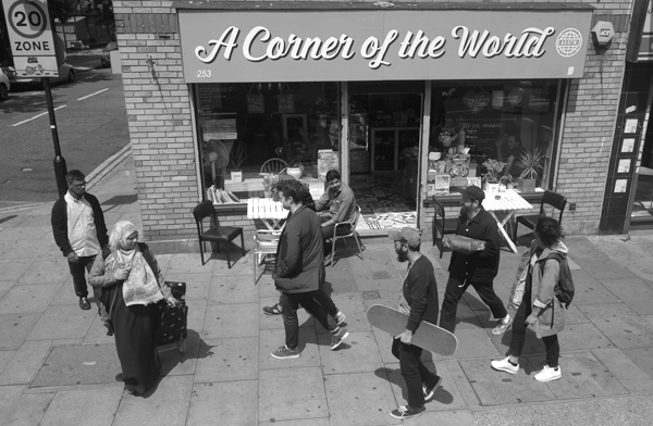 A corner of the world on Bethnal Green Road. East London 2016.