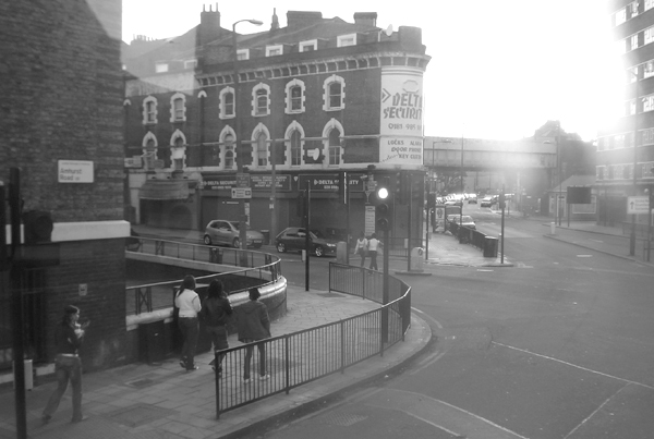 View from the top of a bus. Hackney, East London, June 2007.
