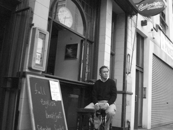 Outside the Indo pub. Whitechapel, East London, June 2007.