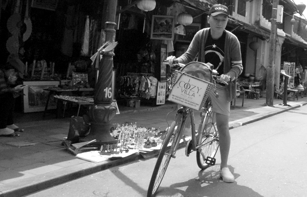 Starting a journey on a bike. Hoi An, Vietnam 2016.