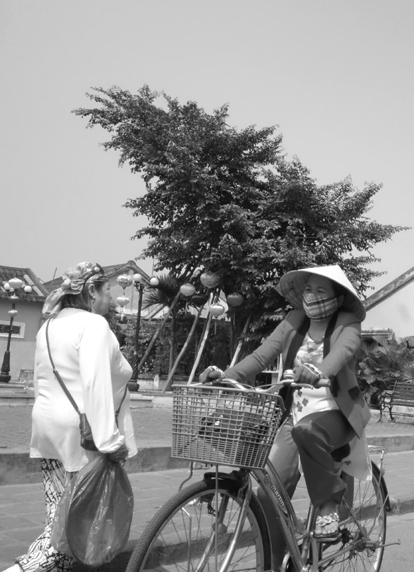 On a bicycle. Hoi An, Vietnam 2016.