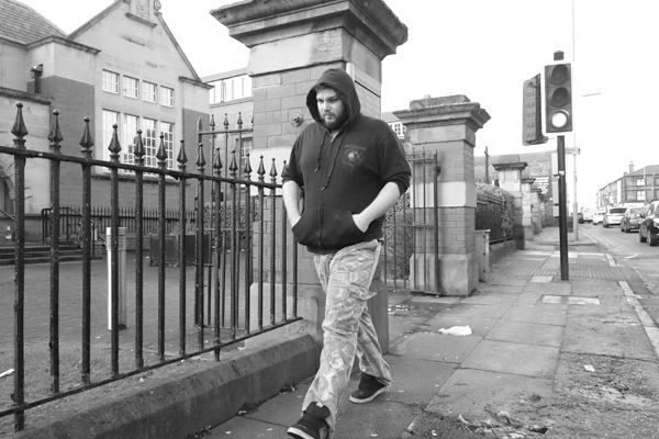 Man in a hood. Picton Road. Liverpool, January 3rd 2018.