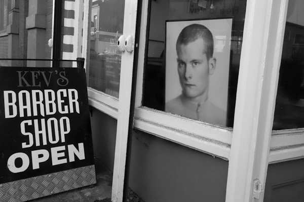 Kev's Barber Shop on Picton Road. Liverpool, January 5th 2018.