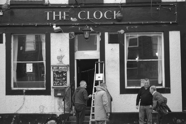 Outside The Clock pub on Picton Road. Liverpool, January 5th 2018.