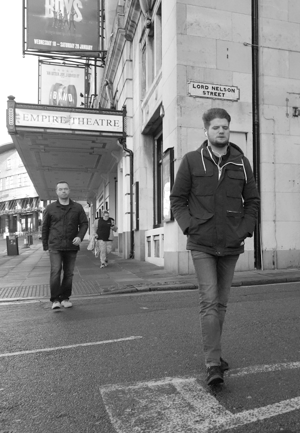 Near the Empire Theatre. Liverpool January 2018.