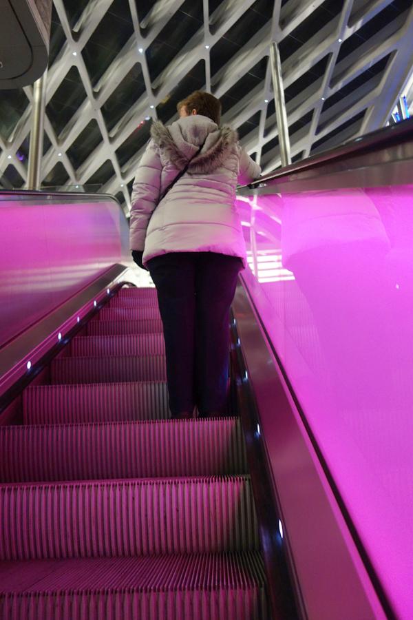 Escalator. Liverpool January 2018.
