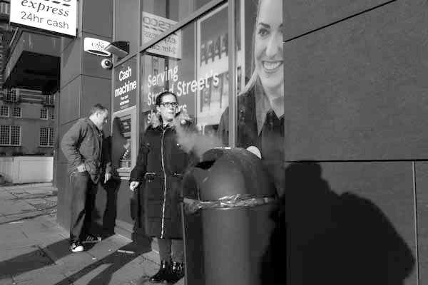 Outside a shop. Liverpool January 2018.