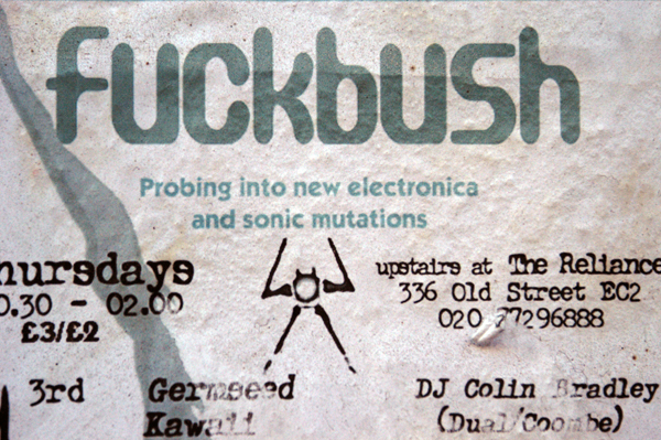 New electronica and sonic mutations. Brick lane, December 2002.