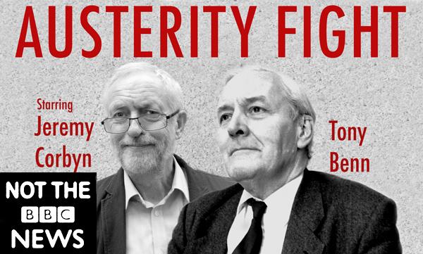 Jeremy Corbyn & Tony Benn. Publicity shot for the film. Liverpool 2017.